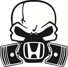 Skull Piston gas mask Decal Sticker Car Honda Civic JDM Drift Hoon Turbo Stance