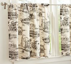 For the laundry room: Fishing Village Toile Cafe Curtain French Furniture, Painted Furniture, Home Furniture, Furniture Ideas, Fall Home Decor, Autumn Home, Cafe Curtains Kitchen, Kitchen Windows, Toile Curtains