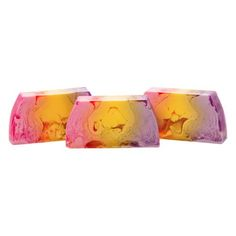 Freesia - Feminine and flirty, this scent will leave your skin scented like a bouquet of fresh freesias.  Our handmade artisan soaps leave your skin feeling smooth, moisturized, and delicately scented.