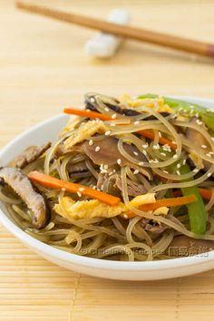 韓式炒粉絲 Korean Stir-Fried Sweet Potato Noodles01