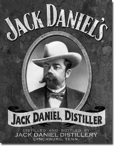 Jack Daniel, the founder of the famous Whiskey brand Jack Daniel's, had a giant moustache. And Jack Daniel's has a new whiskey flavour, one with honey. Coca Cola Vintage, Vintage Tin Signs, Vintage Bar, Vintage Labels, Retro Vintage, Antique Signs, Antique Metal, Vintage Decor, Festa Jack Daniels