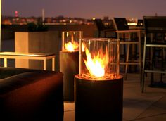 Le Meridien Arlington - outdoor terrace with fire going, after dark!