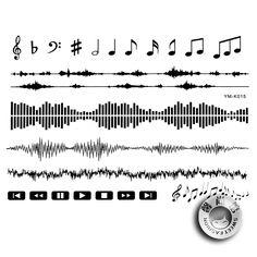 audio wave tattoo - Google Search