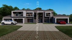 6 Bedroom House Plan - My Building Plans South Africa My Building, Building Plans, Dream Homes, My Dream Home, Architect Fees, 6 Bedroom House Plans, House Plans South Africa, Construction Drawings, Open Plan