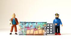 Pillenhülle *S* TIM & STRUPPI Comic Upcycling Unikat! PauwPauw Antibabypille, die Pille, Tintin Recycling 100% handmade in Berlin von PauwPauw auf Etsy