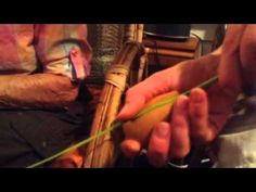 Nancy Today: How to split willow for basket making  hacer cesta - YouTube