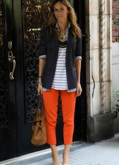 с чем одеть оранжевые джинсы - Поиск в Google