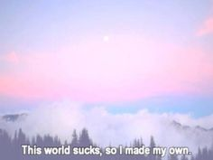 I don't make my own worlds... somebody else makes them for me... I call them books... haha xD