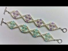 DIY Jewelry Crafts- Mother's Day Bracelet -Easy Beading Project for Beginners Beaded Bracelets Tutorial, Diy Bracelets Easy, Beaded Bracelet Patterns, Lace Bracelet, Flower Bracelet, Making Bracelets With Beads, Seed Bead Bracelets, Bracelet Making, Pearl Bracelets