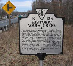Aquia Creek historical marker #Stafford350 http://fredmarkers.umwblogs.org/2008/03/17/historic-aquia-creek-e-123/