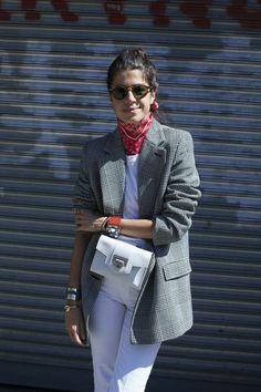 blazer it. Leandra in NYC. #LeandraMedine #ManRepeller