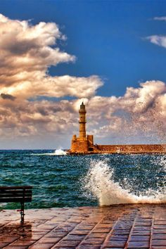 Hania Lighthouse, Crete, Greece