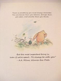 Always Remember Winnie the Pooh Quote by prettypetalspaper, $6.00