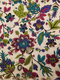 Vintage Multicolor Floral Cotton Print Fabric 44  Wide 1.8 Yards VF3 Bold colored flowers adorn this cotton yardage.   I do not see any damage.   See photos for actual condition.   https://nemb.ly/p/ry8y6=2Tx Happily published via Nembol