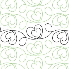Two of Hearts - Digital - Quilts Complete - Longarm Continuous Line Quilting Patterns Quilting Stencils, Longarm Quilting, Digital Review, Machine Quilting Designs, Continuous Line, Quilt Patterns, Quilts, Hearts, Sewing