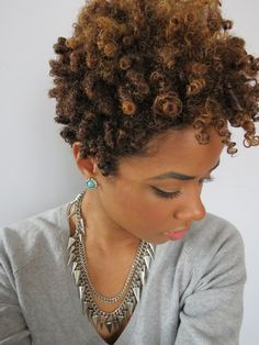 How to Get Perfect Bantu Knot Out Results on Dry Natural Hair - African curls   African curls