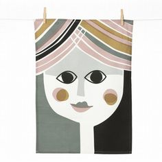 "Mrs. Tea Towel 27""H x 20""W"