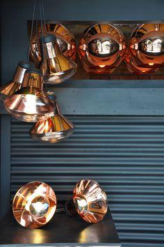 Blow Light de Tom Dixon. El cobre como elemento de diseño aporta una gran belleza y presencia decorativa. #iluminacion #cobre