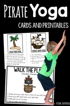Pirate themed activities for gross motor! These are the best for preschool and up! I love all the great ways to move your body with a pirate theme. These are the perfect activity for any pirate unit!
