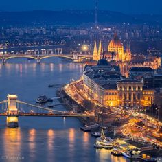 View from Gellert hill, Budapest, Hungary (photo by Yuya Matsuo) Top Travel Destinations, Wonderful Picture, Photo Checks, Budapest Hungary, Vacation Places, Travel Abroad, Tower Bridge, Wonders Of The World, Beautiful Places