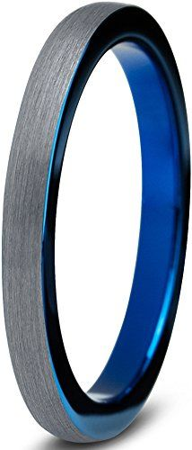 Tungsten Wedding Band Ring 2mm for Men Women Comfort Fit Blue Round Domed Brushed Lifetime Guarantee Size 7.5 P.Manoukian / Sale:CDN$ 29.77  You Save:CDN$ 280.00 (90%)