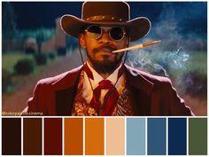 Quentin Tarantino, Tarantino Films, Django Unchained, Movie Color Palette, Colour Pallette, Stanley Kubrick, Django Desencadenado, Robert Richardson, Birdman