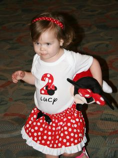 Minnie Mouse Inspired Birthday Outfit by createdbyhishands on Etsy