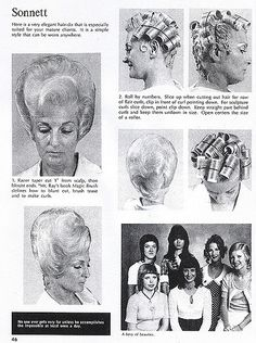 1970s Hairstyles, Vintage Hairstyles, 1960s Hair, Wet Set, Roller Set, Hair Beauty, Photography, Personality Disorder, Curlers