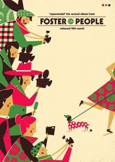 Foster the people supermodel poster by David Ryski