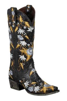 Lane Women's Black Summer Bounty Cowgirl Boots on sale @ HeadWest Outfitters