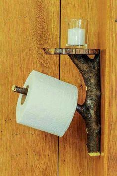Rustic Wood Toilet Paper Holder Shelf Tree by LimbsAndTwigs - . Rustikaler hölzerner Toilettenpapierhalter-Regal-Baum durch LimbsAndTwigs – Rustic Wooden Toilet Paper Holder Shelf Tree by LimbsAndTwigs – # wooden