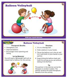 These cards have different activities that work on motor planning. Other areas such as hand eye coordination and core strength are also addressed.