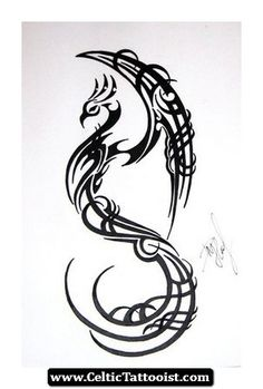 tatatatta: Japanese Tattoos With Image Japanese Tattoo Designs For Japanese Female Tattoo And Japanese Male Tattoo With Japanese Tribal Phoenix Tattoo Picture Tribal Bird Tattoos, Tribal Phoenix Tattoo, Phoenix Bird Tattoos, Tattoo Bird, Feniks Tattoo, Tribal Wings, Elephant Tattoos, Bild Tattoos, Body Art Tattoos