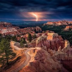Lightning Storm in Utah #EarthPix Photography by Stefan Mitterwallner by earthpix http://ift.tt/1qcJzev
