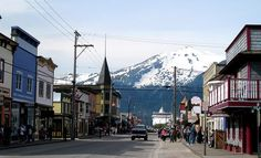 Skagway, Alaska; one of the coolest little towns I've been to. Real rockclimbing on the mountains there too!