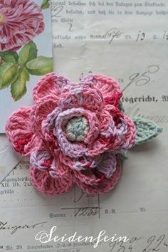 Gehäkelte Rosen Crochet Knit Patterns Tips Theory Pinterest
