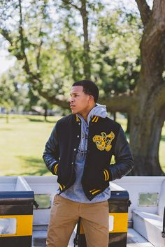 Geared up for Game Time! {Iowa Crest pullover and Iowa Varsity Leather Jacket}
