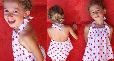 Patron de couture - Dos nu fillette. Voici un modèle tout simple à réaliser et idéal pour l'été. Le patron est accompagné du cours de couture en vidéo