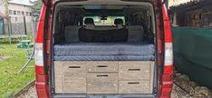 Storage box in camper MB Viano Bunk Beds, Camper, Storage, Box, Furniture, Home Decor, Purse Storage, Caravan, Snare Drum