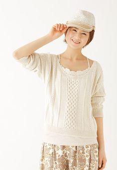 【楽天市場】作品♪212s-4サマーセーター:【毛糸 ピエロ】 メーカー直販店