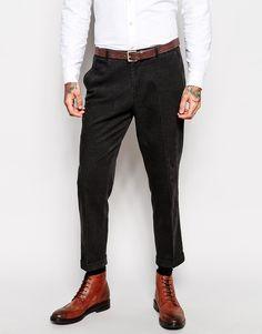 Immagine 1 di ASOS - Pantaloni slim fit eleganti in velluto a coste