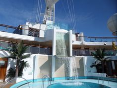 Waterfall on the serenity deck.