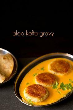 kofta aloo kofta curry recipe - potato patties or koftas in a creamy, rich makhani style gravy.aloo kofta curry recipe - potato patties or koftas in a creamy, rich makhani style gravy. Veg Recipes Of India, Indian Food Recipes, Asian Recipes, Spicy Recipes, Curry Recipes, Cooking Recipes, Tasty Vegetarian, Kofta Curry Recipe, Gourmet
