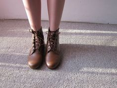 Deery Ankle boots. $55.00, via Etsy.    This person. goldenponies, on etsy might just be my new favorite person ever!