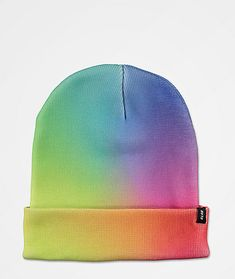 Add some serious color to your cold-weather collection with the Nola tie dye beanie from A-Lab! This beanie features a rainbow tie dye gradient throughout for a ton of bright style, while the comfortable poly construction means you'll stay nice and warm a Groom Attire, Groom Suits, Groom Suspenders, Stoner Style, Tie Dye Designs, Knit Tie, Groom Style, Tye Dye, Wedding Centerpieces