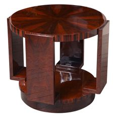 Round Art Deco Gueridon with Shelf | From a unique collection of antique and modern gueridon at http://www.1stdibs.com/furniture/tables/gueridon/