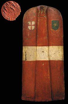 A GERMAN (KLAUSEN) PAVISE MID-15TH CENTURY