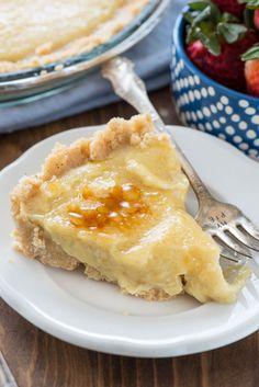 Easy No Bake Creme Brulee Pie
