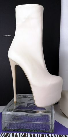 Cream Soft Genuine Leather Ankle Boots Thick Heels, Sexy Heels, Low Heels, Wedge Heels, Platform High Heels, High Heel Boots, Heeled Boots, Sss Shoes, Cream Ankle Boots