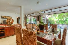 Private villa in Seminayk with bi fold doors to fully enclose living area